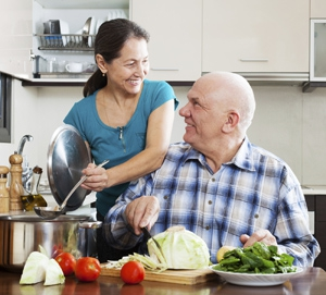 Our companions help prepare healthy meals.