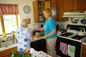 Care giving for elderly client